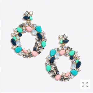 Colorful wreath statement earrings - NWT